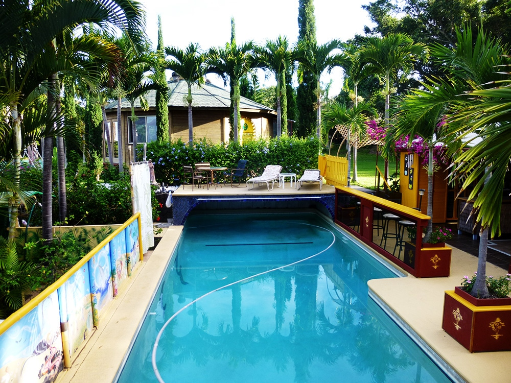 Poolside at the Banyan Tree Sanctuary