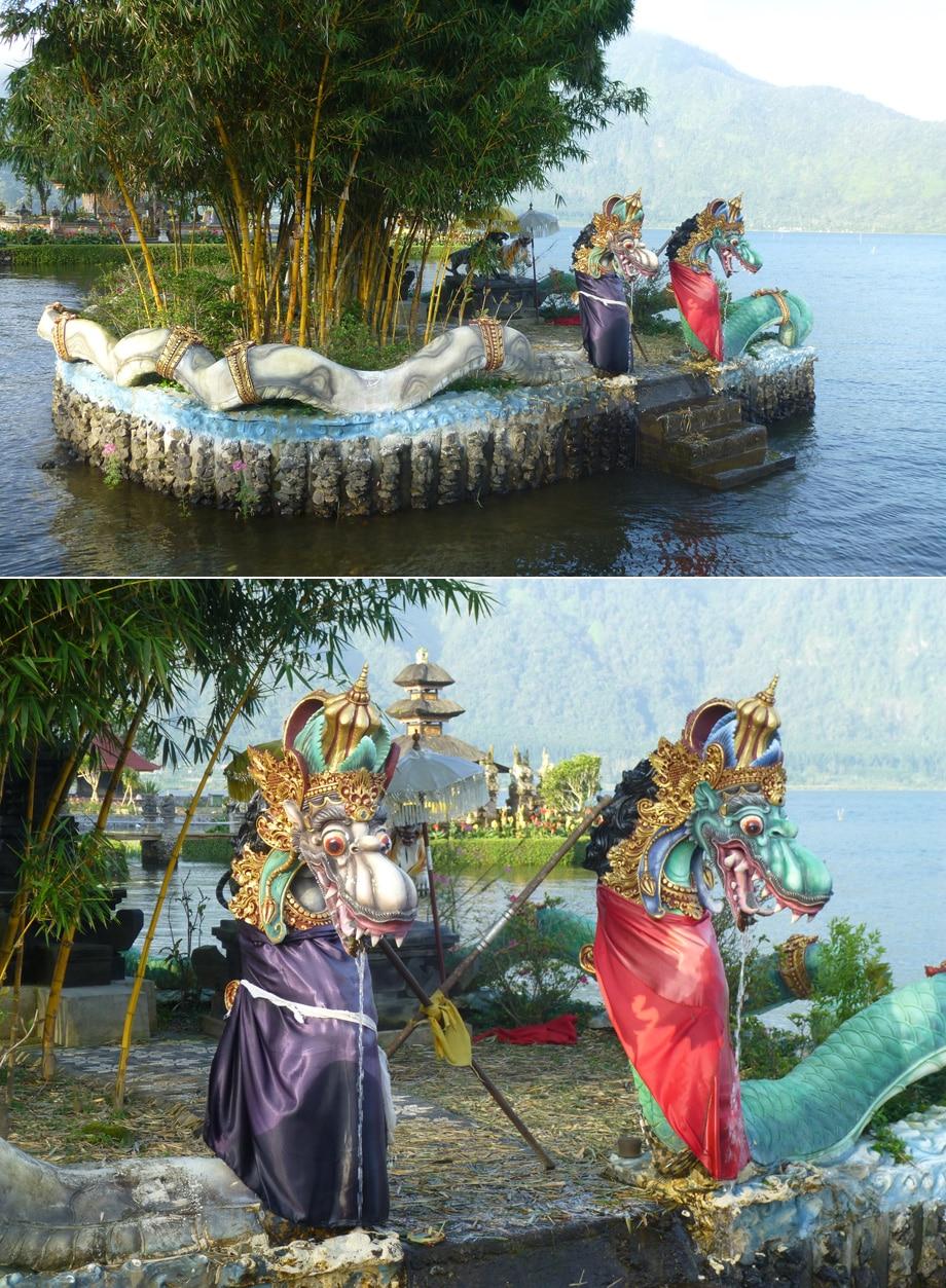 Dragon Sculpture at Ulun Danu Beratan Temple