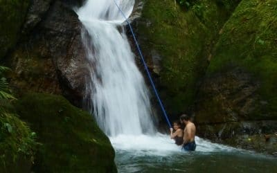 Secret Waterfall in Costa Rica