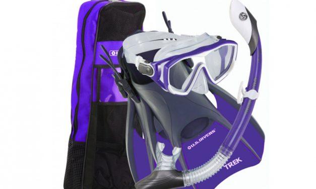 U.S.Divers Women's Snorkel Set – Mask, Snorkel, Fins, Bag