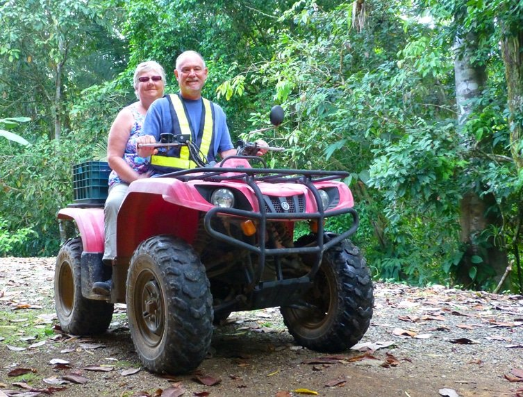 Neil and Laurie on Quad in Costa Rica