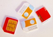 SIM mobile phone cards