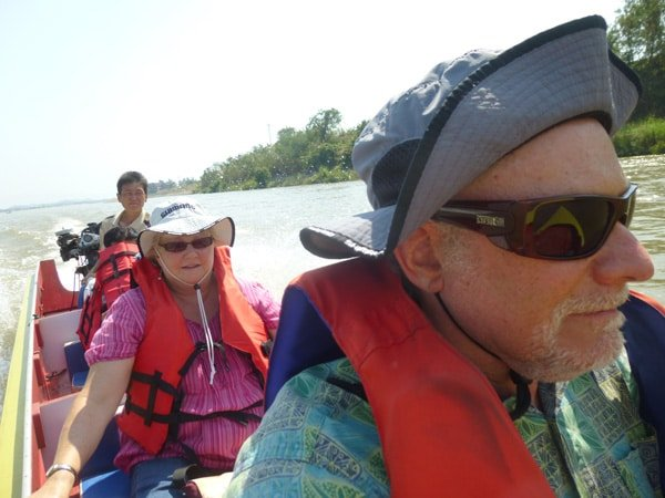 Longboat Ride on the Mekong River