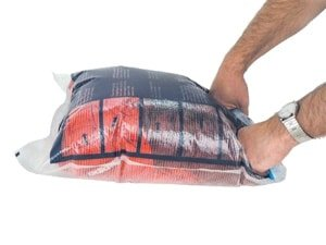 Compression sacks make packing easy