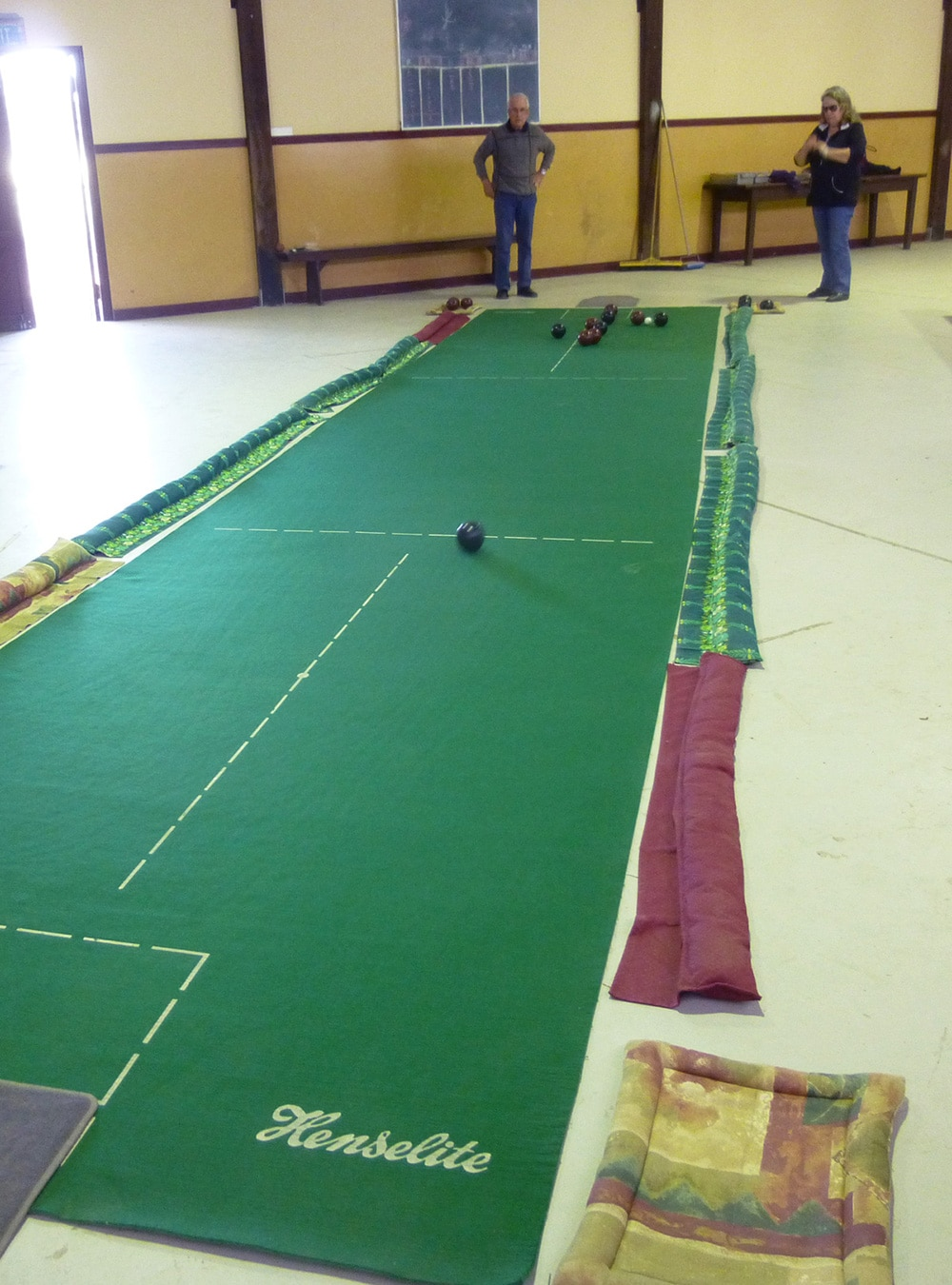 Indoor Bowls with the Locals In Kendenup, Western Australia