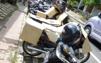 Ingenuious Low Tech Motorbike Sun Visor