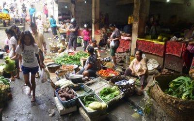Vibrant Community Market in Ubud, Bali