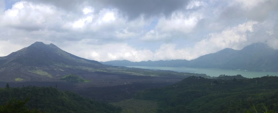 View of Gunung-Agun, Gunung-Abang, Danau-Batur in Bali