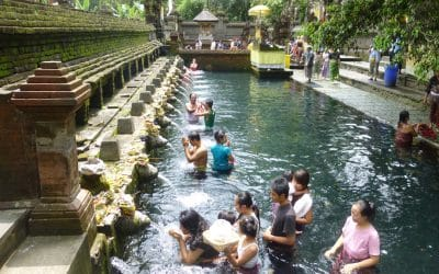 Bathing in the Holy Waters of Tirta Empul