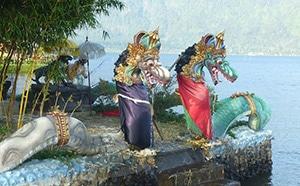 Breathtaking Dragon Fountain Sculpture at Ulun Danu Beratan