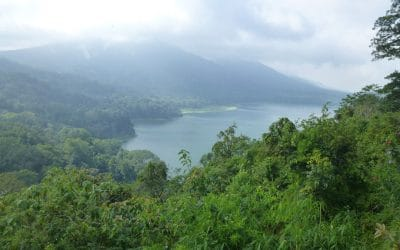 Lake Beratan as seen from the Mountains in Central Bali