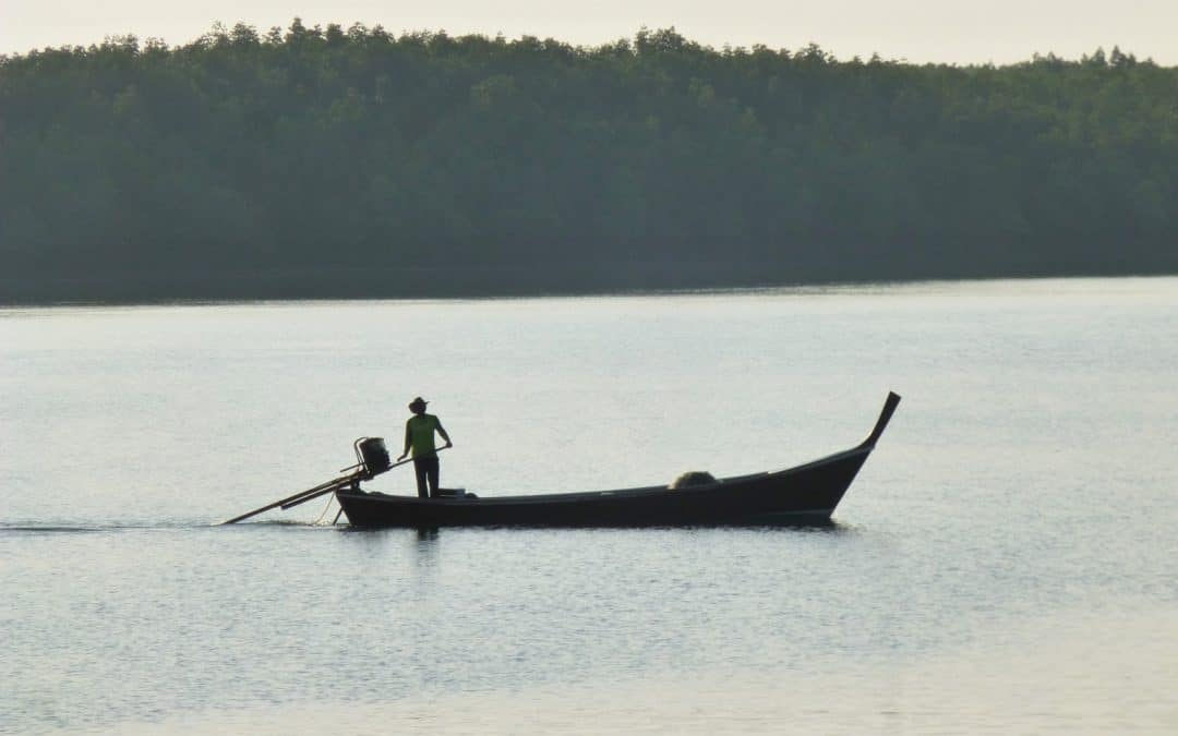 Traditional Thai Long-tail Boat on Andaman Sea