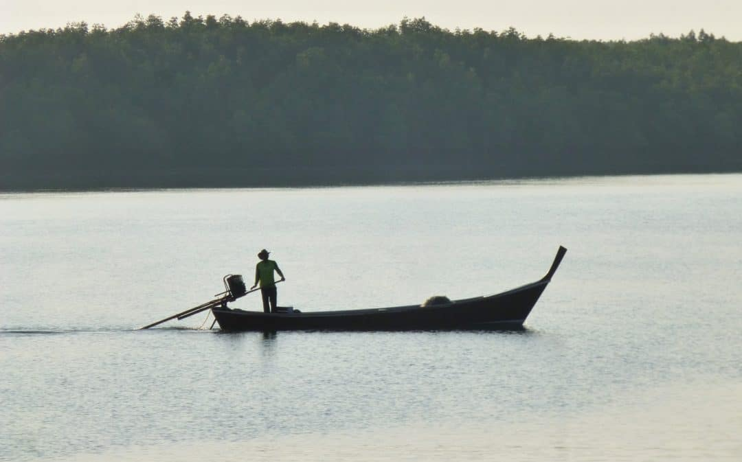 Longtail boat on Andaman Sea