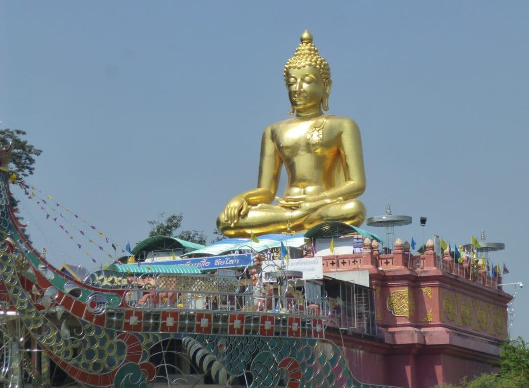 Golden Buddha on the Mekong River