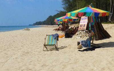 Lounging on Phra Ae Beach in Ko Lanta, Thailand