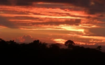 Costa Rican Sunset as seen from hills of Ojochal