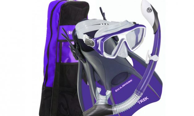 U.S.Divers Women's Snorkel Set – Mask, Snorkel, Fins, Bag