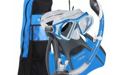 US Divers Men's Snorkel Set- Mask, Snorkel, Fins, Bag
