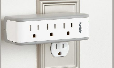 Belkin 3-Outlet Mini Travel Charger Has Surge Protection & 2 USB Ports