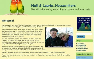 Our Simple Housesitter Web Site Helps Us To Stand Out