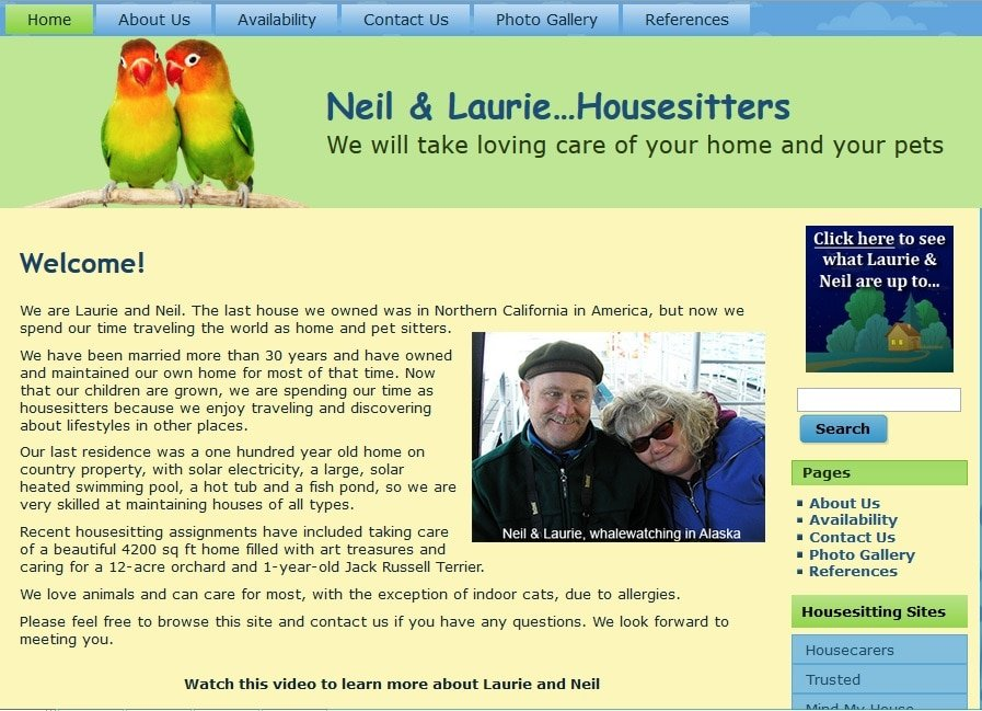 Neil & Laurie House Sitters