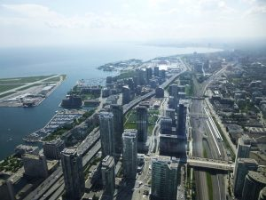 Downtown Toronto as seen from top of CN Tower