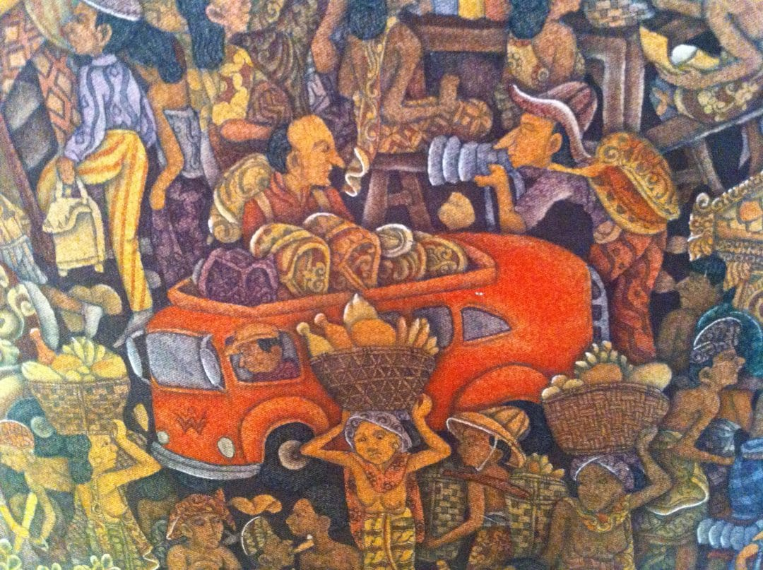 detail of painting in the Batuan style