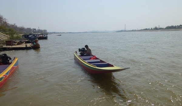 Longboat on the Mekong River in Thailand