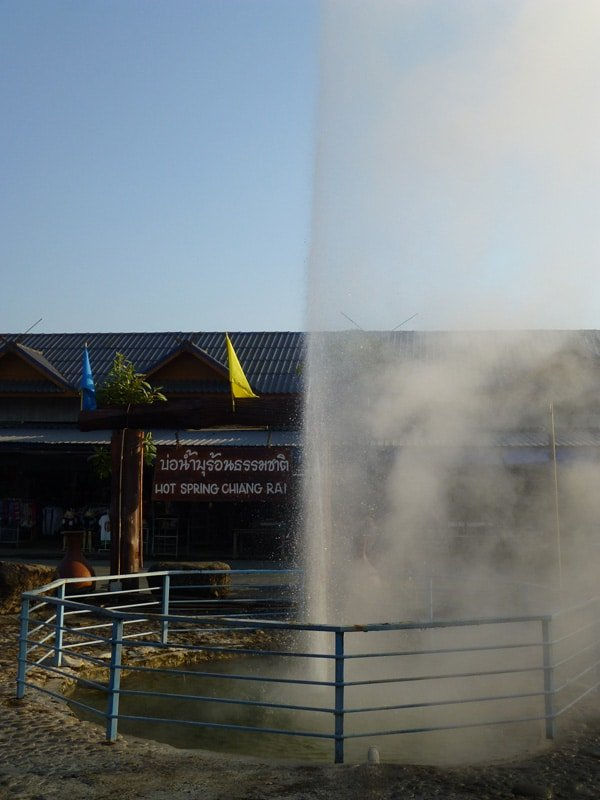 Hot Springs in Chiang Rai, Thailand