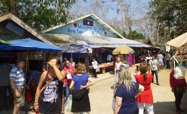 Market in Done Sao, Laos