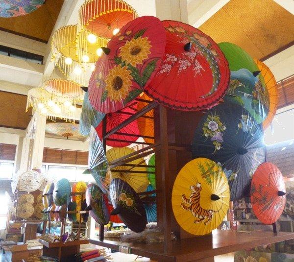 hand painted umbrellas in Borsang, Thailand