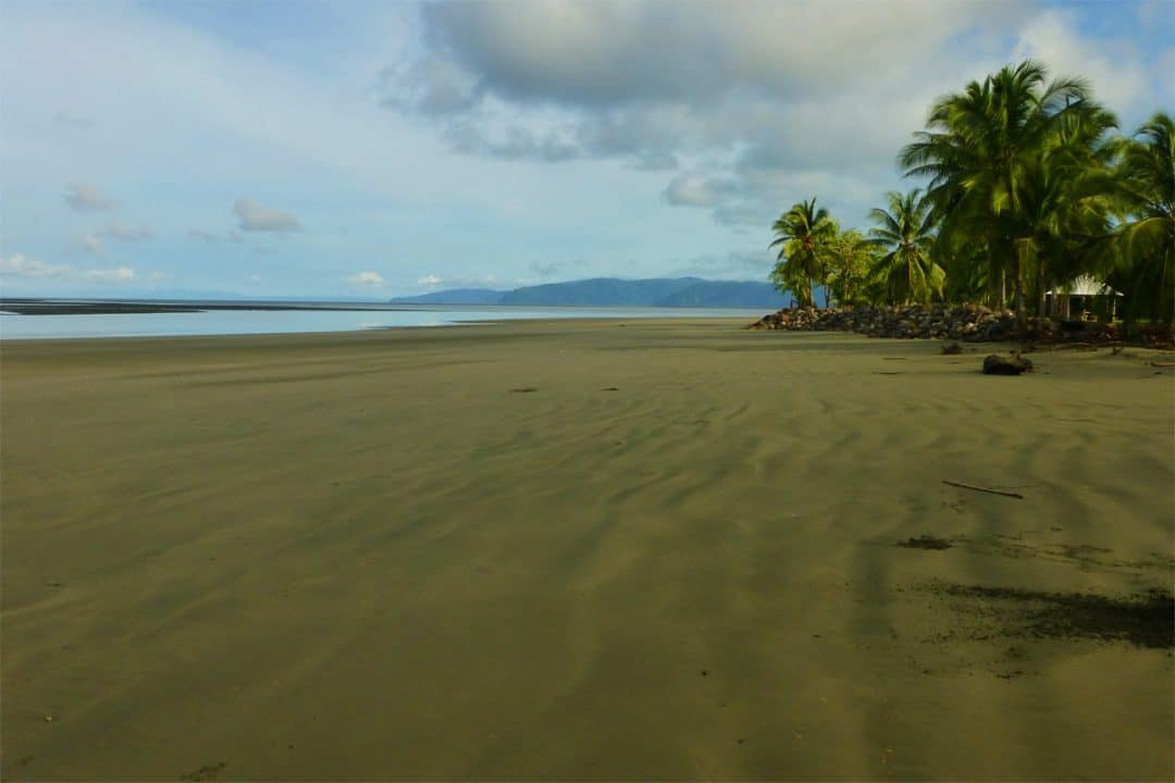 Deserted Beach in Playa Zancudo, Costa Rica