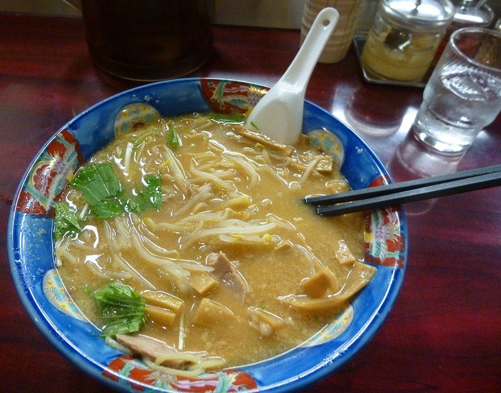 delicious ramen noodle soup is served in Tokyo Japan shops